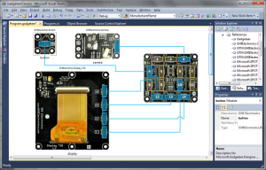 .NET Gadgeteer Designer with Connected Modules
