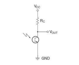 Il circuito del fototransistor