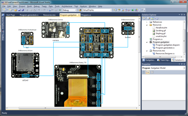 Touch Screen Camera SDCard con .NET Gadgeteer Designer