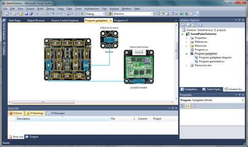 Pulse Oximeter in .NET Gadgeteer Designer