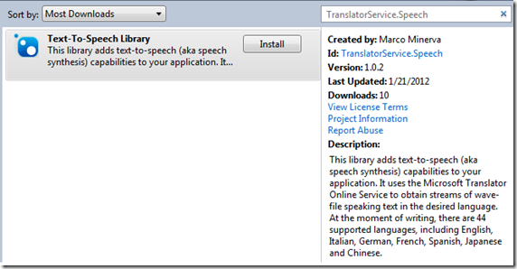 TranslatorService.Speech
