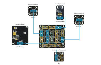 Posture Accelerometer Sensor LED Alert