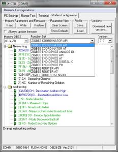 X-CTU XBee Function Set