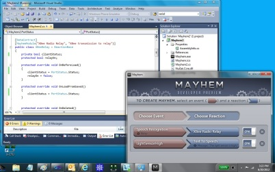 Mayhem running in Visual Studio Debugger
