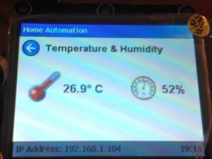 The Temperature & Humidity panel